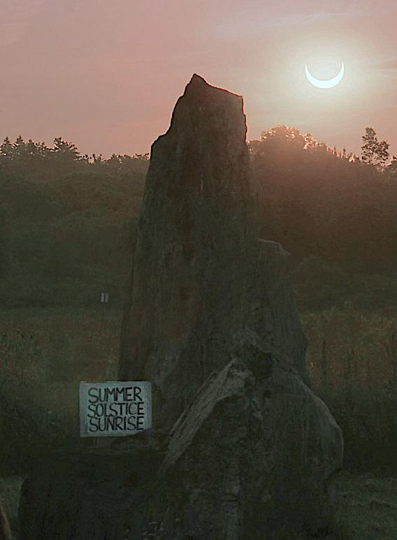 Possible appearance of sunrise on June 10 with the moon partially eclipsing the sun. Photo credit: S. Schneider