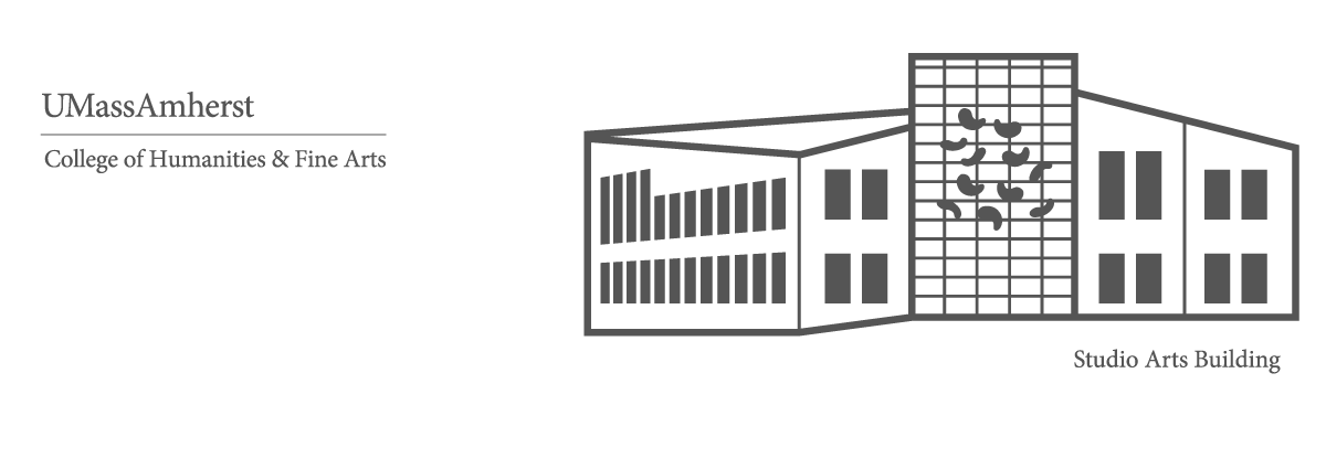 Stylized rendering of the Studio Arts Building, home of the Department of Art