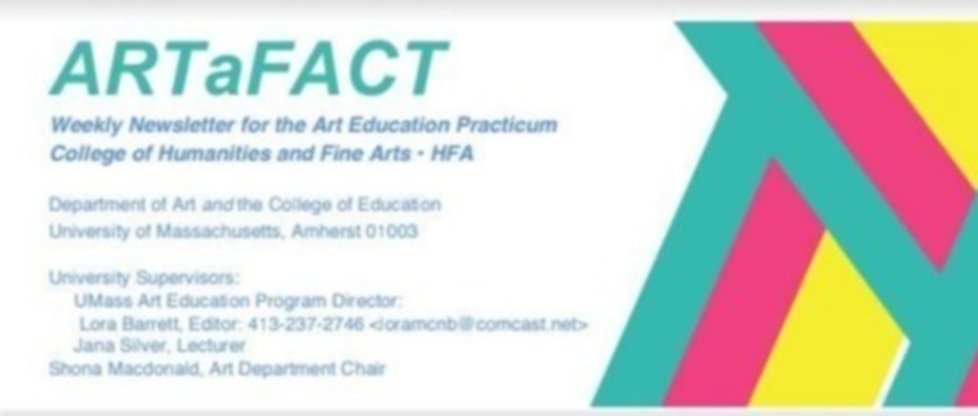 Art Education Newsletter banner