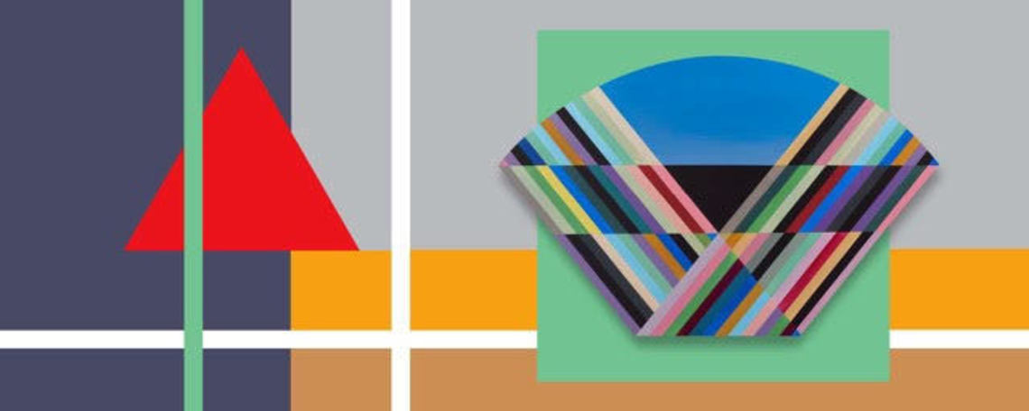Shapes are stacked upon each other overlapping. The optical diagram is treated as a subject and is interpreted as a condensed colorscape.