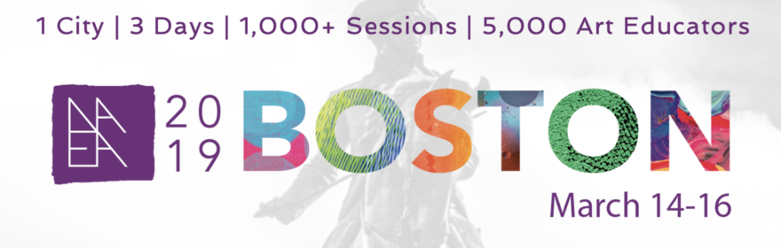 National Art Education Association Boston 2019 - 1 city 3 days 1000 sessions 5000 art educators