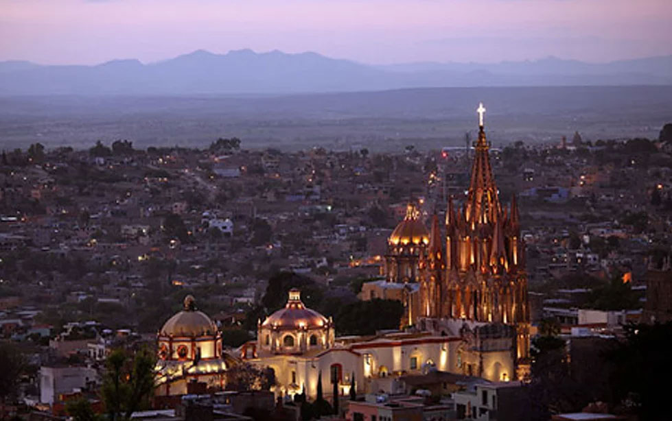Aerial view of San Miguel, Mexico