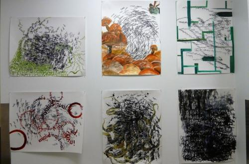 Work by ART 497JS, Junior/Senior seminar on display