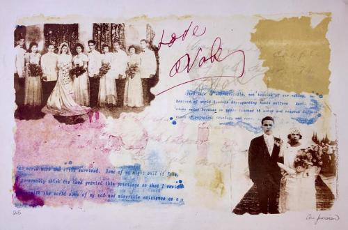 collage of old wedding photos and text