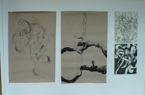 Student artwork from Open House