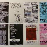 12 Typographic Posters by Professor Jeff Kasper's ART297DD Digital Design class