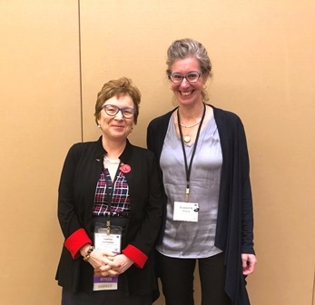 Professor Laetitia La Follette as President of AIA, along with Vice President Elizabeth S. Greene
