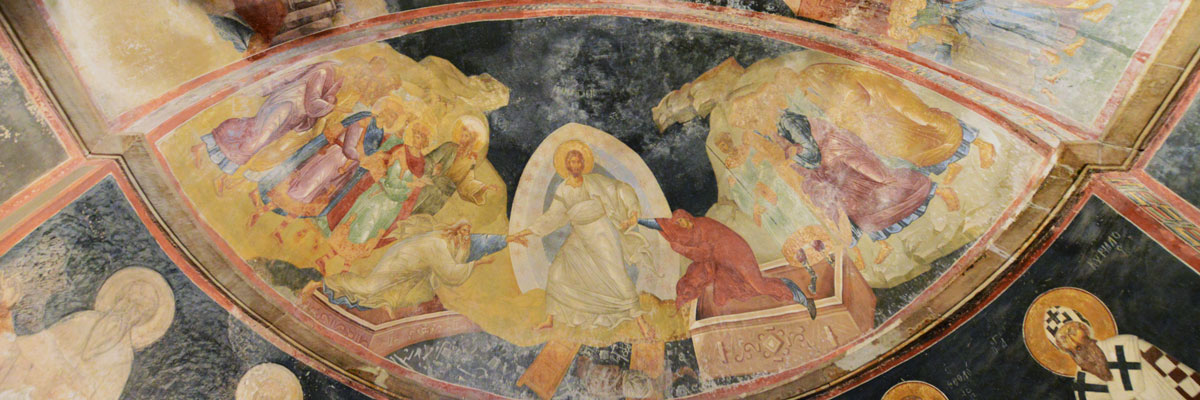Fresco of Christian imagery
