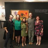 Pictured is  Ben Smith, Karen Kurczynsk, Diana Blanco, Chris Albert, and Aleesha Ast.
