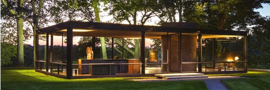 Philip Johnson Glass House interpreting an anecdote frank lloyd wright visits philip johnson s