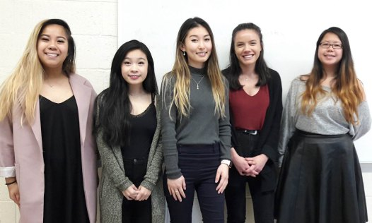 From left to right: Emily Chin, Samantha Huynh, Lily Tang (expected completion in 2021), Dien-Lien Riquier, and Ann Liptak (expected completion in 2020)