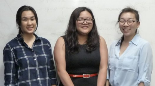 From left to right: Rizta Pratama, Laila Mai-Nguyen, and Gillian Teng (Not pictured is Molly Henry)