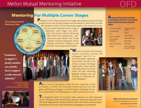 UMass Amherst Office of Faculty Development - Mutual Mentoring
