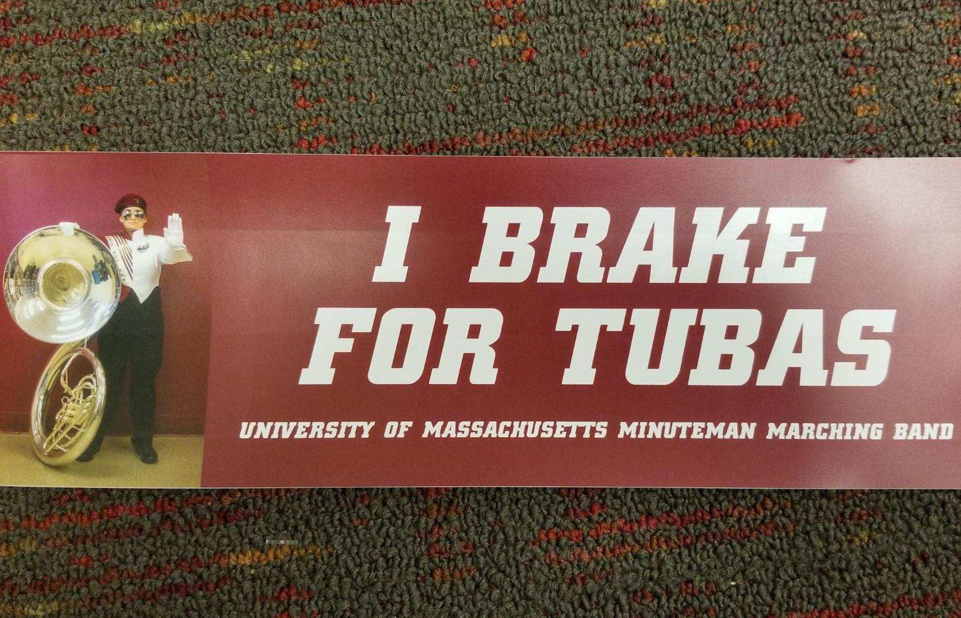 I Brake For Tubas Bumper Sticker
