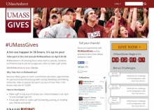 UMass Gives website