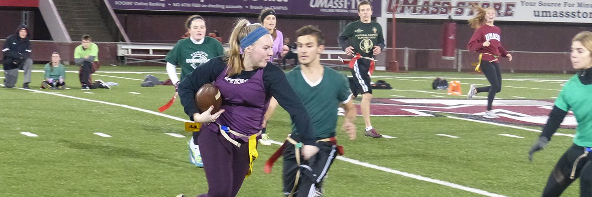 Intramural Flag Football Action