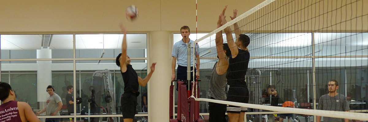Intramural Volleyball Action