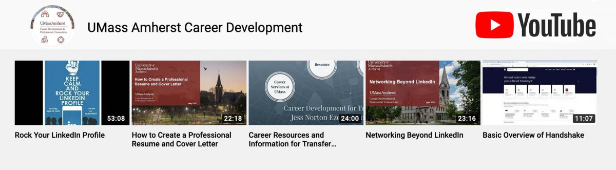 Link to Career Development's YouTube Channel
