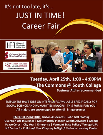 Just In Time Career Fair Poster