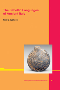 Book Cover: The Sabellic Languages of Ancient Italy