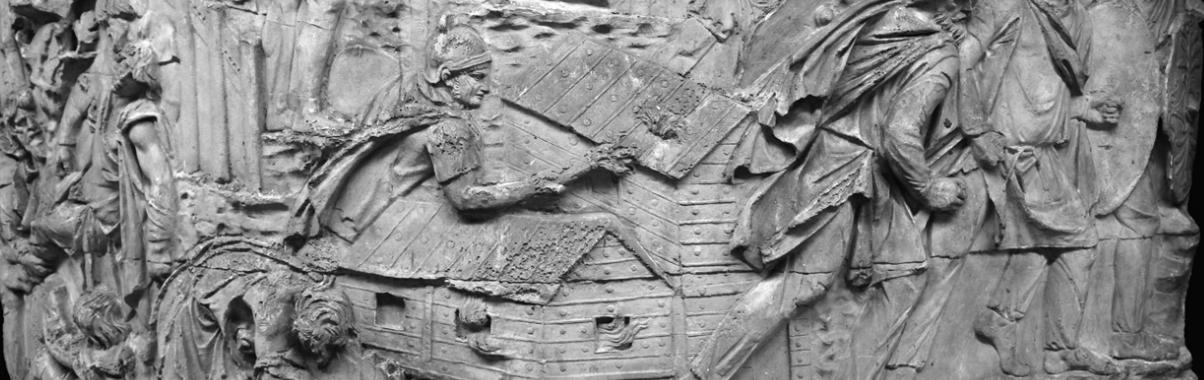 Trajan's Column - A Roman triumphal column in Rome that commemorates Roman emperor Trajan's victory in the Dacian Wars.