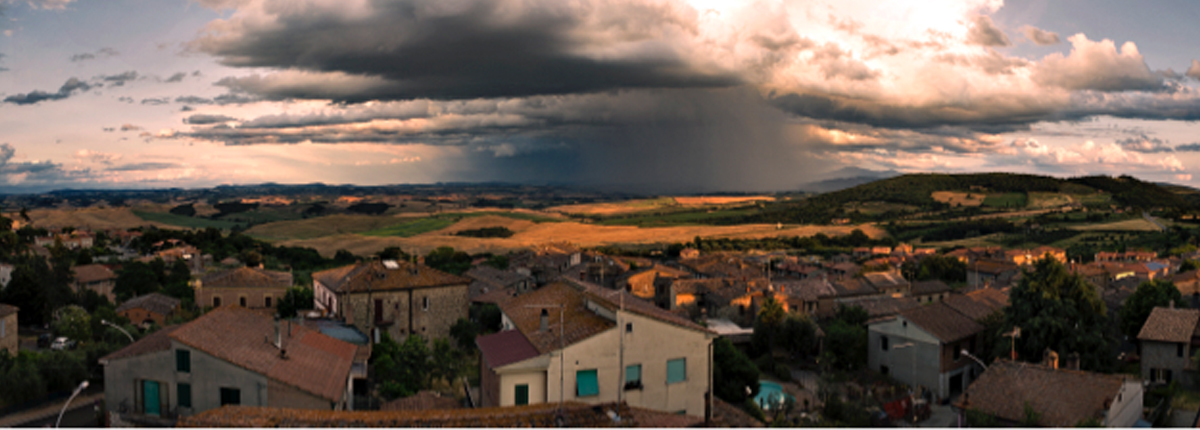 Poggio Civitate in the commune of Murlo, Siena, Italy - the location of an ancient settlement of the Etruscan civilization