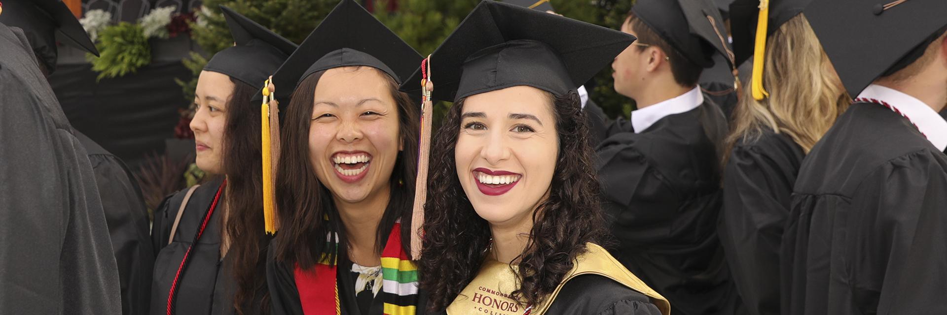 Students at UMass Undergraduate Commencement 2019