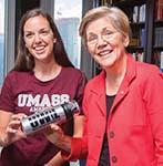 Elizabeth Warren and Heather Ducharme '16