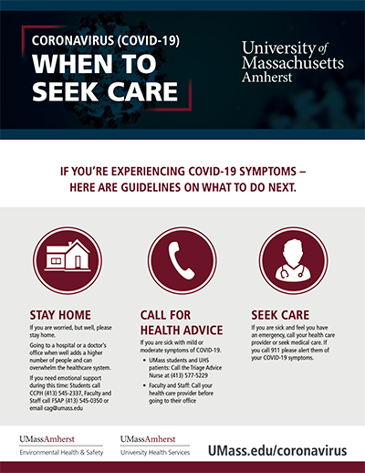 Where to Seek Care poster