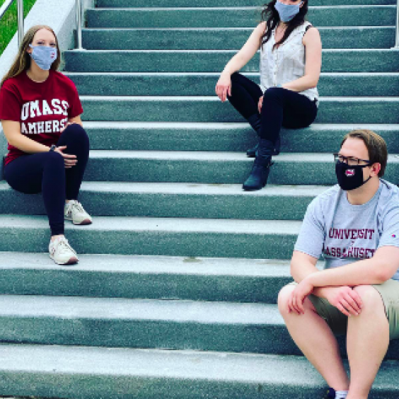 umass students wearing masks