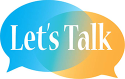 The Let's Talk initiative has a logo with two speech bubbles