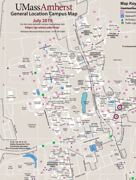 Campus Map Umass