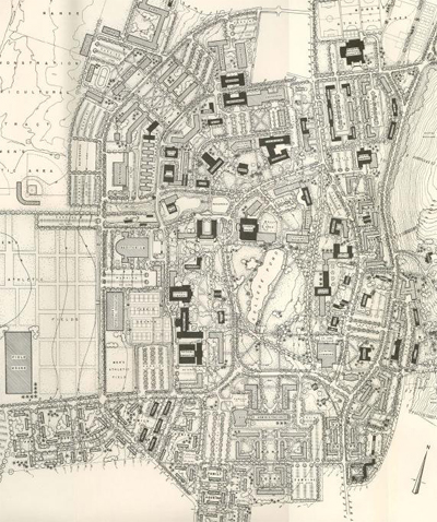 1953 Campus Plan by Shurcliff, Shurcliff and Merrill