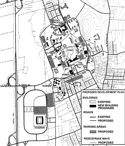 1962 Campus Plan by Sasaki, Walker and Associates, Inc.