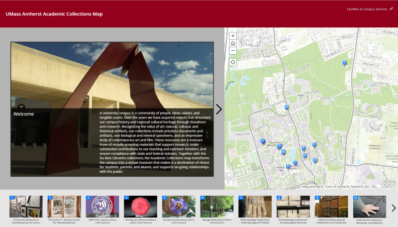Click here to launch the Campus Collections Map!