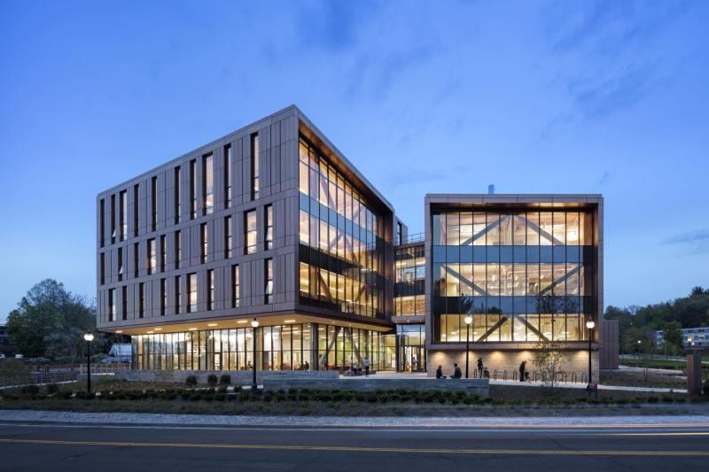 John W. Olver Design Building (ODB)_East Exterior Perspective