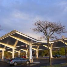 Robsham Memorial Center for Visitors Solar Parking Lot Canopy