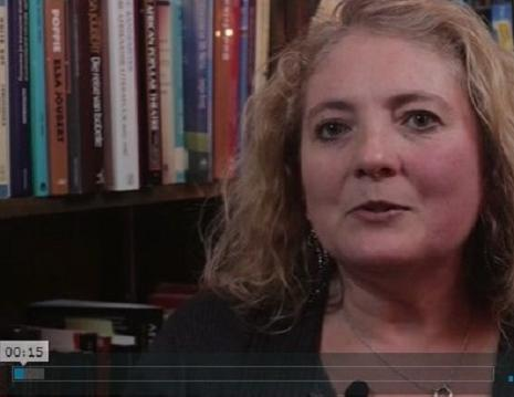 Screenshot of Megan Lewis in Faculty Voices.