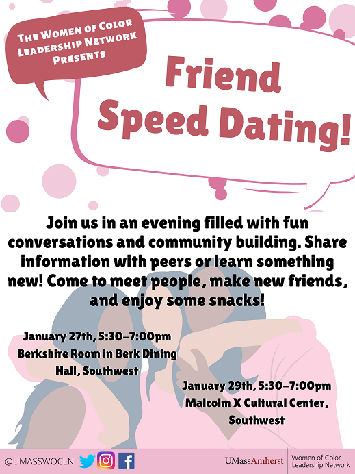 WOCLN Friend Speed Dating poster