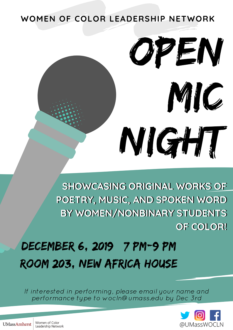 WOCLN Open Mic Night poster