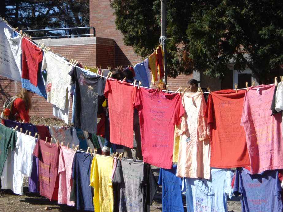 Image of Clothesline Project