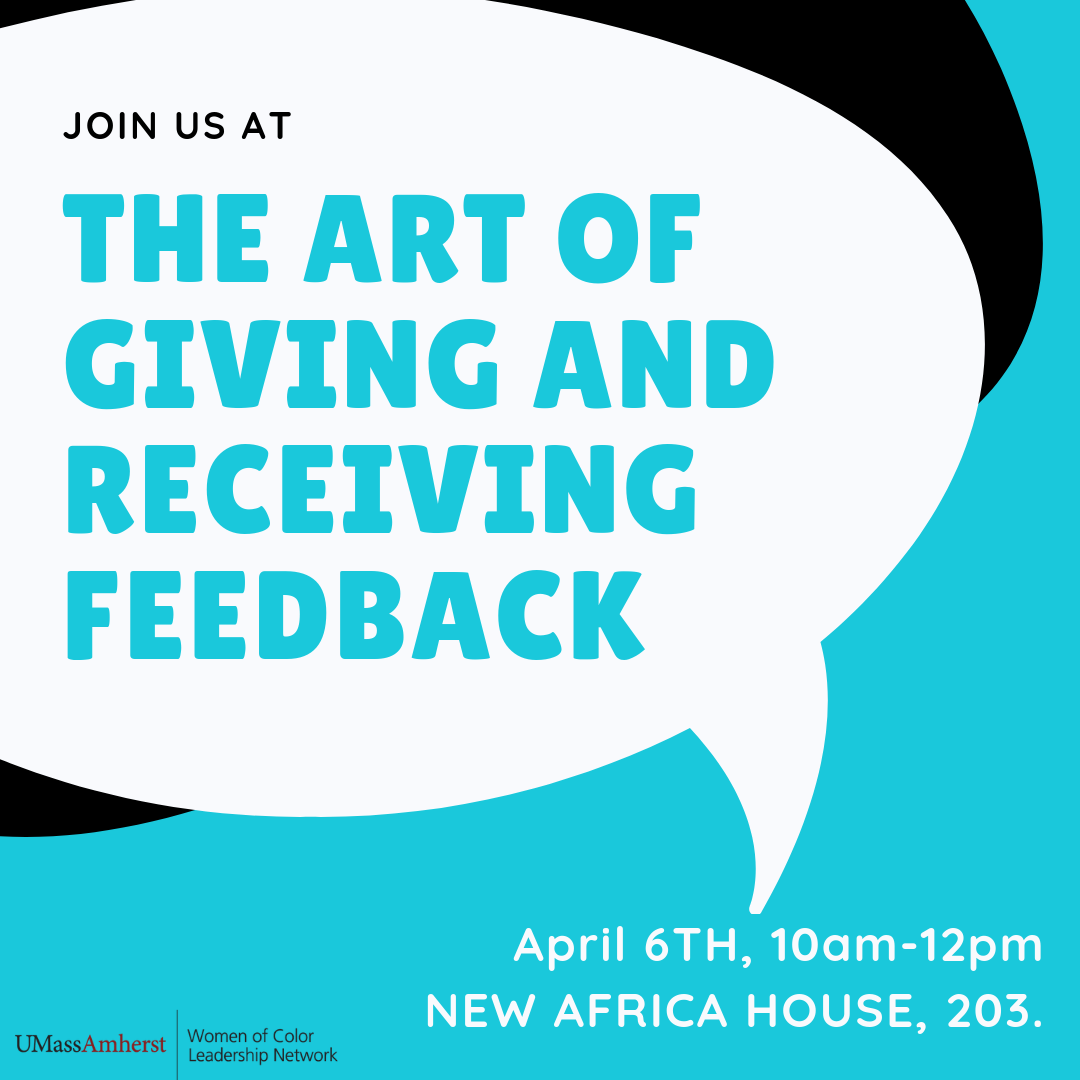 Art of giving and receiving feedback Poster