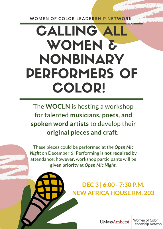 WOCLN Artist's workshop poster
