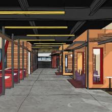 Worcester Common First Floor Lounge Rendering