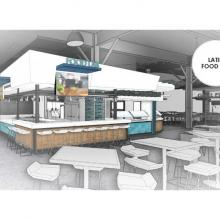 Worcester Commons Second Floor Latin Food Rendering