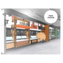 Worcester Commons Second Floor Pizza Station Rendering