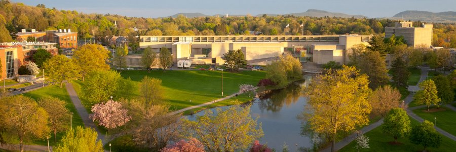 View of the Fine Arts Center from the library