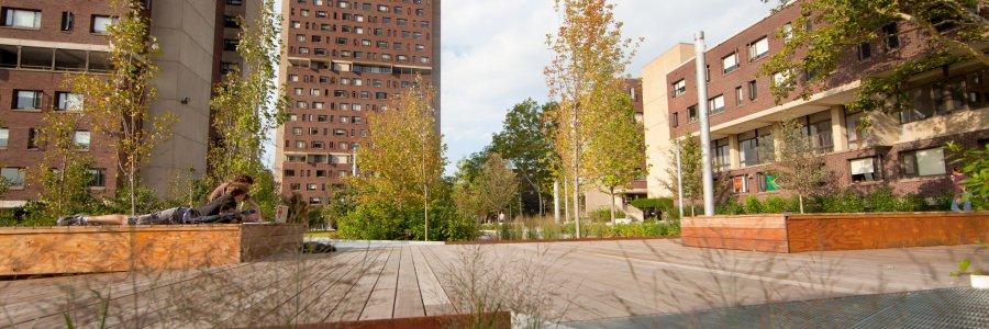 Southwest courtyard