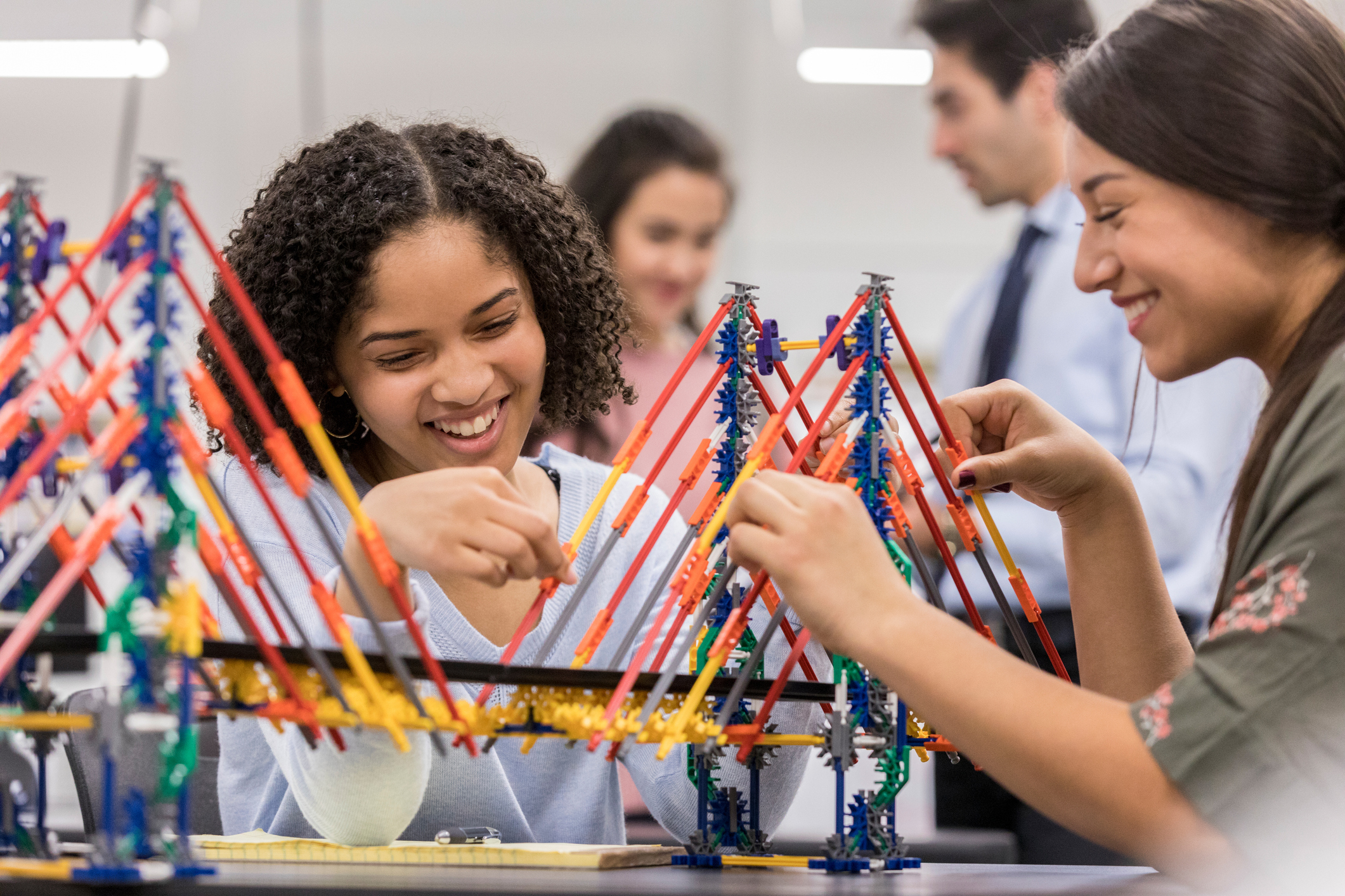 Image of Students working on a model