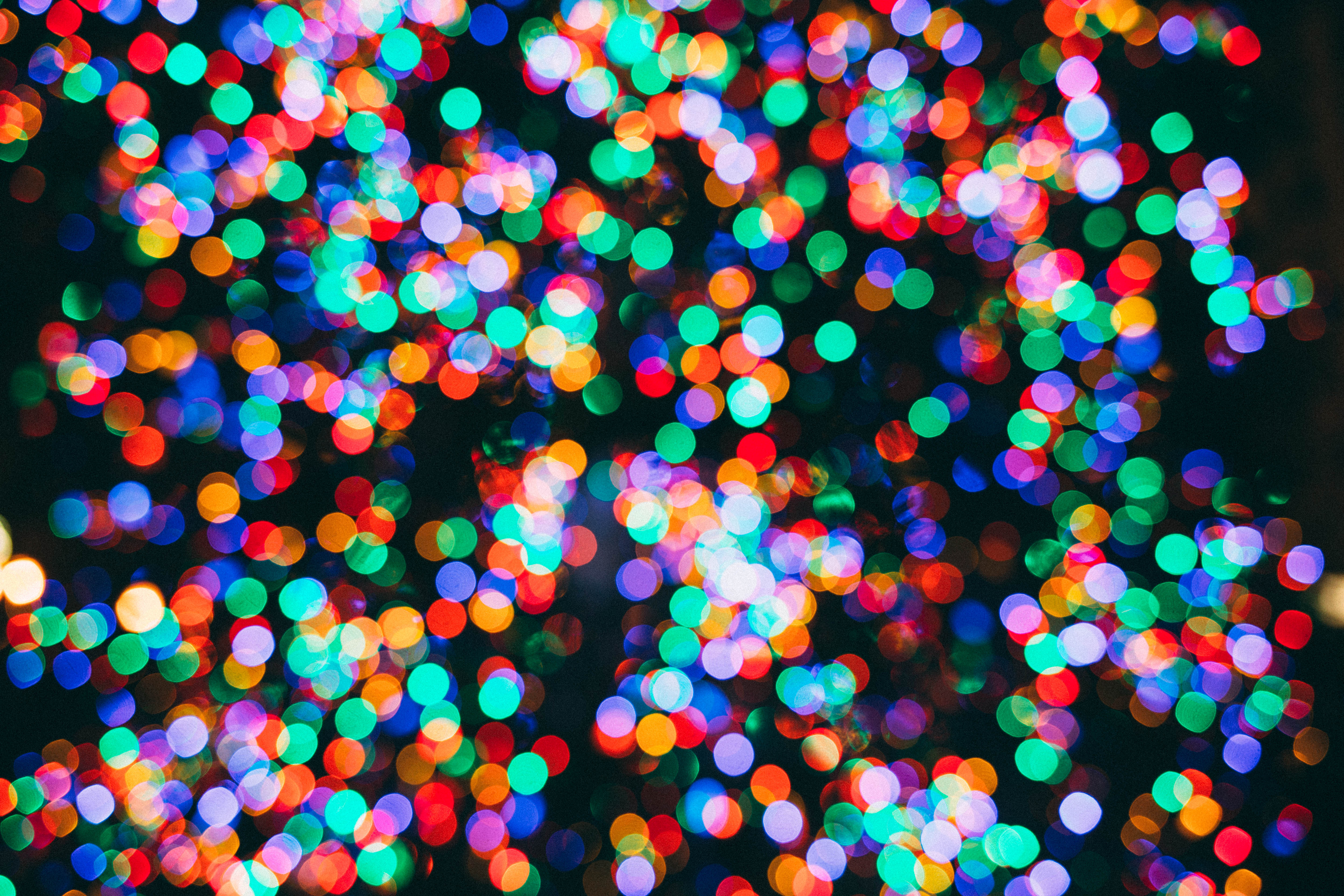 Colorful circles of light background